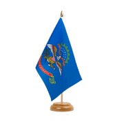 "North Dakota - Table Flag 6x9"", wooden"