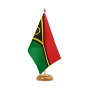 "Vanuatu - Table Flag 6x9"", wooden"