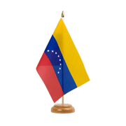 "Venezuela 8 stars - Table Flag 6x9"", wooden"