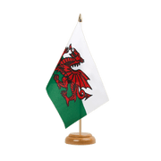 "Wales - Table Flag 6x9"", wooden"