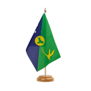 "Christmas Island - Table Flag 6x9"", wooden"