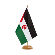 "Western Sahara - Table Flag 6x9"", wooden"
