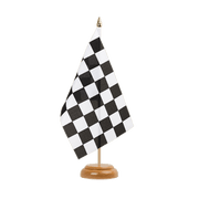 "Checkered - Table Flag 6x9"", wooden"