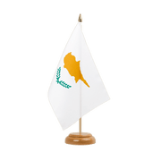 "Cyprus - Table Flag 6x9"", wooden"