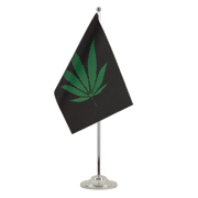 Drapeau de table prestige Cannabis Reggae - 15 x 22 cm