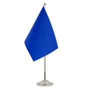 Drapeau de table prestige Bleu - 15 x 22 cm