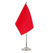 Drapeau de table prestige Rouge - 15 x 22 cm