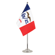 Drapeau de table prestige Iowa - 15 x 22 cm
