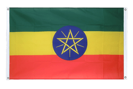 Ethiopia with star - Banner Flag 3x5 ft, landscape