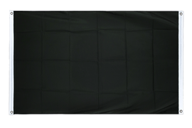 Black - Banner Flag 3x5 ft, landscape