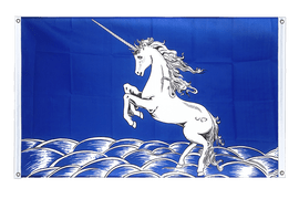 Unicorn blue - Banner Flag 3x5 ft, landscape