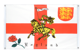 England with knight - Banner Flag 3x5 ft, landscape