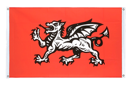 England white dragon - Banner Flag 3x5 ft, landscape