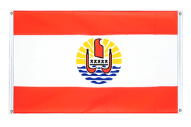 French Polynesia - Banner Flag 3x5 ft, landscape