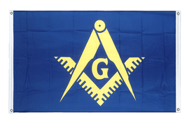 Freemason - Banner Flag 3x5 ft, landscape