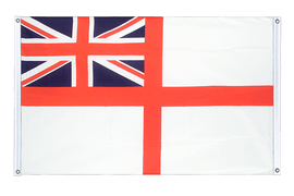 Naval Ensign of the White Squadron - Banner Flag 3x5 ft, landscape