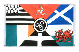 Celtic nations - Banner Flag 3x5 ft, landscape