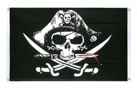 Pirate with bloody sabre - Banner Flag 3x5 ft, landscape
