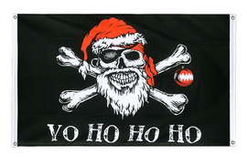 Pirate Christmas - Banner Flag 3x5 ft, landscape