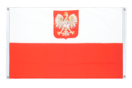 Poland with eagle - Banner Flag 3x5 ft, landscape