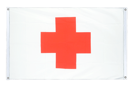 Red Cross - Banner Flag 3x5 ft, landscape