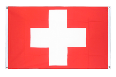 Switzerland Banner Flag 3x5 ft, landscape
