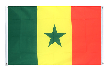 Senegal - Banner Flag 3x5 ft, landscape