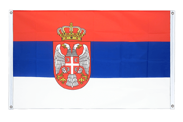 Serbia with crest Banner Flag 3x5 ft, landscape