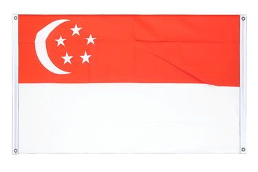Singapore Banner Flag 3x5 ft, landscape
