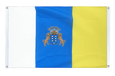 Canaries Banner Flag 3x5 ft, landscape