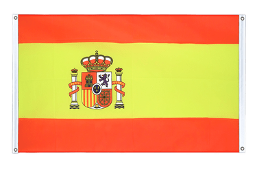 Spain with crest  Banner 3x5 ft, landscape