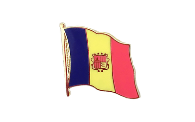 Andorra Flag Lapel Pin