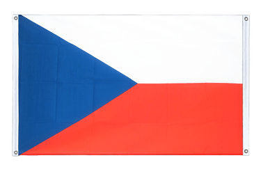 Czech Republic Banner Flag 3x5 ft, landscape