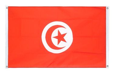 Tunisia Banner Flag 3x5 ft, landscape
