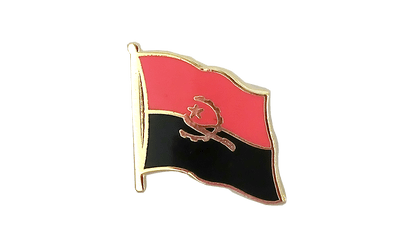 Angola Flag Lapel Pin