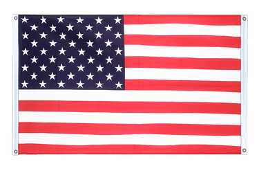 USA Banner Flag 3x5 ft, landscape