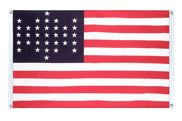 33 Sterne Fort Sumter Union Civil War 1861 - Bannerfahne VA Ösen 90 x 150 cm, quer
