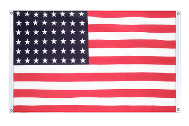 USA 48 stars Banner Flag 3x5 ft, landscape