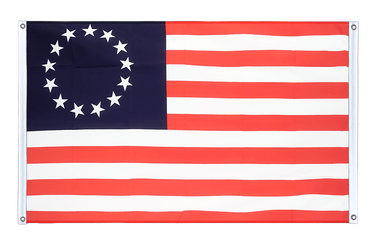 USA Betsy Ross 1777-1795 - Banner Flag 3x5 ft, landscape