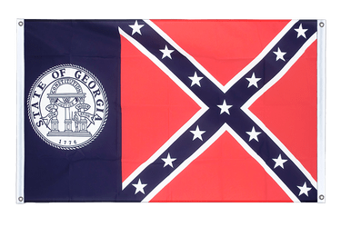 Georgia old Banner Flag 3x5 ft, landscape
