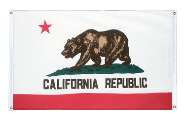California Banner Flag 3x5 ft, landscape