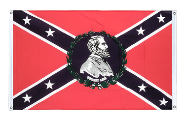 USA Southern United States General Lee Banner Flag 3x5 ft, landscape