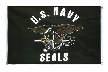 USA Navy Seals - Banner Flag 3x5 ft, landscape