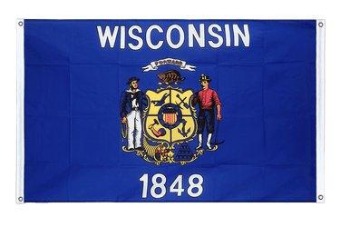 Wisconsin - Banner Flag 3x5 ft, landscape