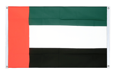 United Arab Emirates - Banner Flag 3x5 ft, landscape