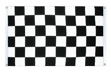 Checkered Banner Flag 3x5 ft, landscape