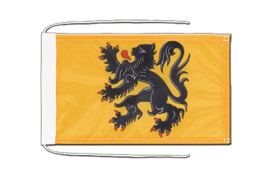 Belgium Flanders Flag with ropes 8x12""