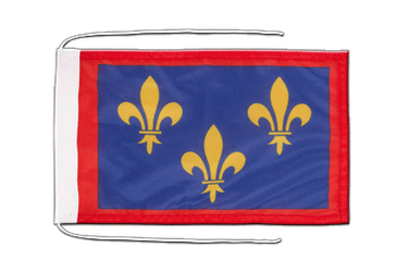 Anjou Flag with ropes 8x12""