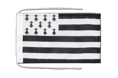 Brittany Flag with ropes 8x12""