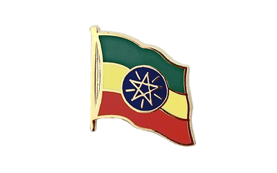 Ethiopia with star - Flag Lapel Pin